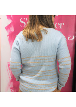 PULL EN MAILLE A RAYURES